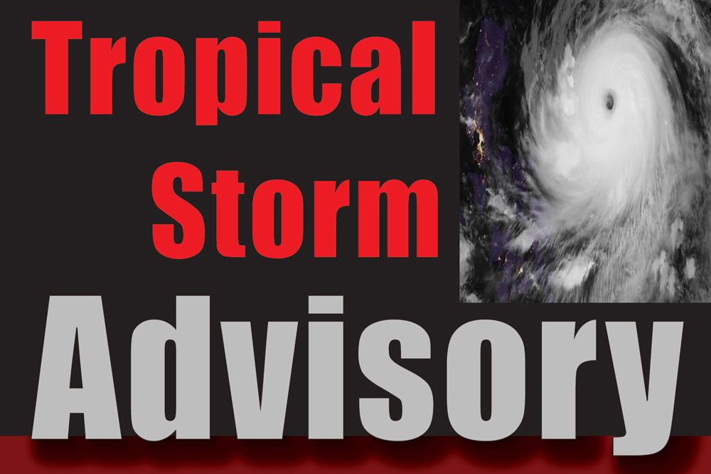 SVG remains under a Tropical Storm Watch
